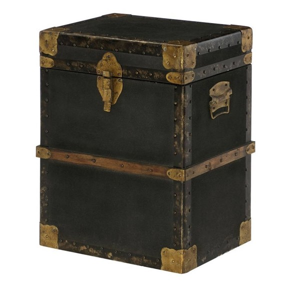 Hammary Hidden Treasures Black Trunk End Table HAM-090-743