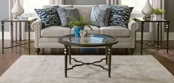 Hammary Paragon Hamilton Antique Burnished Bronze Round 3pc Coffee Table Set HAM-840-91-OCT-S2