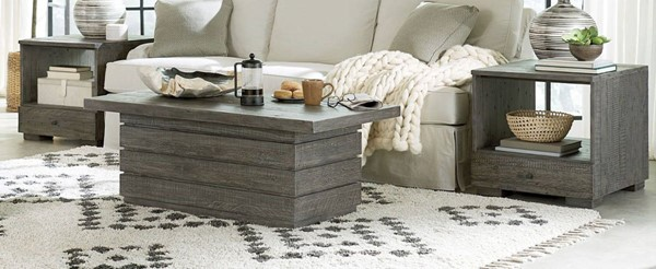 Hammary Reclamation Place Shiplap Black Olive 3pc Coffee Table Set HAM-849-91-OCT-S1