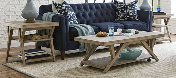 Hammary Exposition Warm Taupe 3pc Coffee Table Set HAM-867-91-OCT-S1