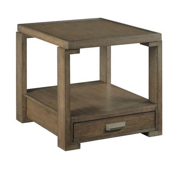 Hammary Amber Rum Rectangular Drawer End Table HAM-984-915