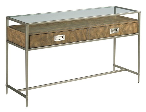 Hammary Carlton Chestnut Brown Silver Sofa Table HAM-986-925