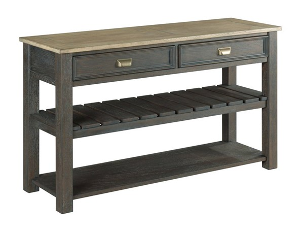 Hammary Lyle Creek Hamilton Caramel Charcoal Sofa Table HAM-953-925