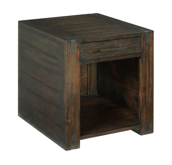 Hammary Portman Natural Rich Brown Rectangular Drawer End Table HAM-989-915