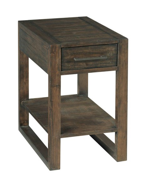 Hammary Portman Natural Rich Brown Charging Chairside Table HAM-989-916