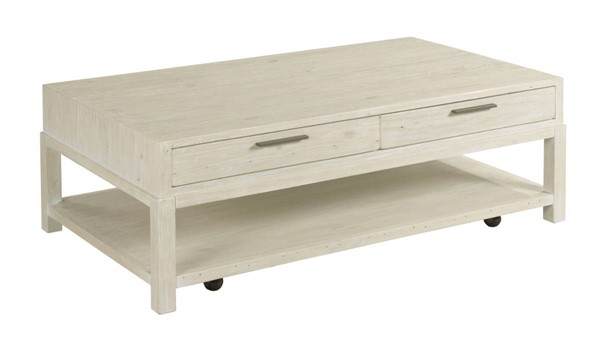 Hammary Reclamation Place White Sand Rectangular Coffee Table HAM-523-909
