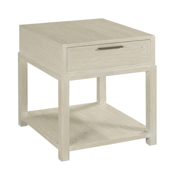 Hammary Reclamation Place White Sand Rectangular Drawer End Table HAM-523-922
