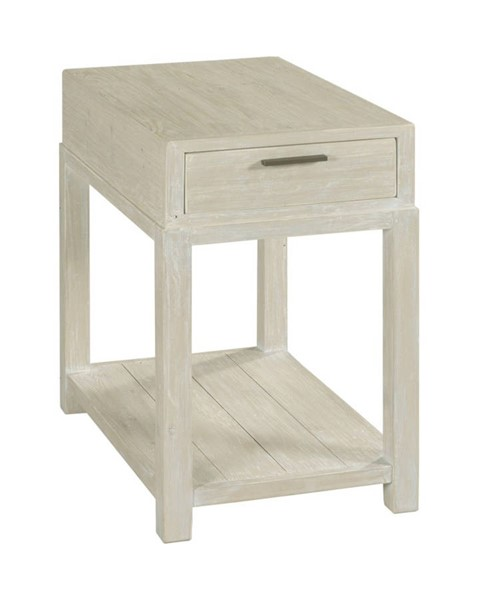 Hammary Reclamation Place White Sand Chairside Table HAM-523-923