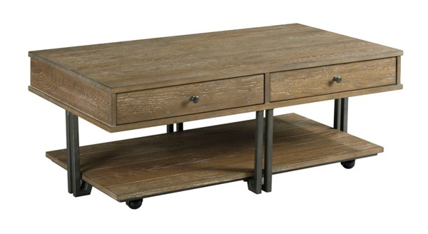 Hammary Saddletree Hamilton Cinnamon Rectangular Coffee Table HAM-954-910