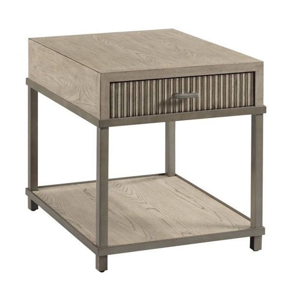 Hammary West Fork Aged Taupe Bailey End Table HAM-924-915