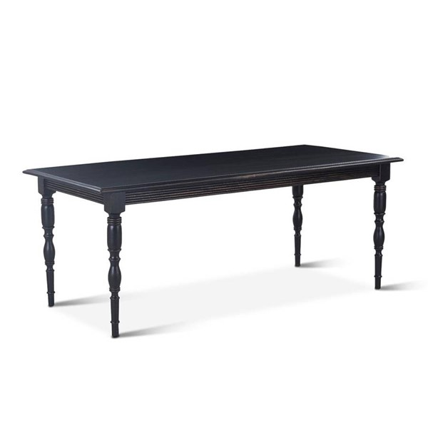 World Interiors Albi Black 76 Inch Rectangle Farmhouse Dining Table WIF-ZWALBDT76