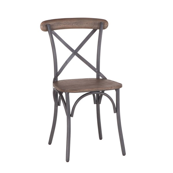 2 World Interiors Anderson Iron Dining Chairs WIF-ZWAND03WT-2X