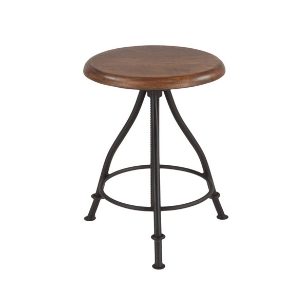 World Interiors Artezia Acacia Wood Adjustable Bar Stool WIF-ZWAT13131