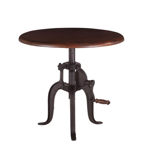 World Interiors Artezia 24 Inch Adjustable Crank Side Table WIF-ZWAT24WN