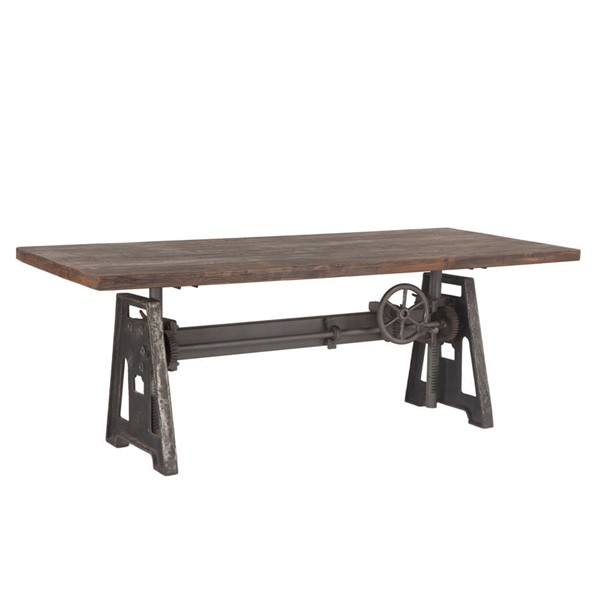 World Interiors Artezia 84 Inch Adjustable Crank Dining Table WIF-ZWAT8438