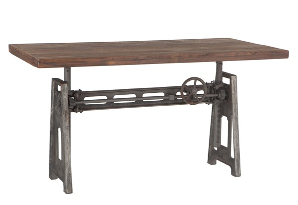 World Interiors Artezia Adjustable Crank Desk WIF-ZWATDSKGR