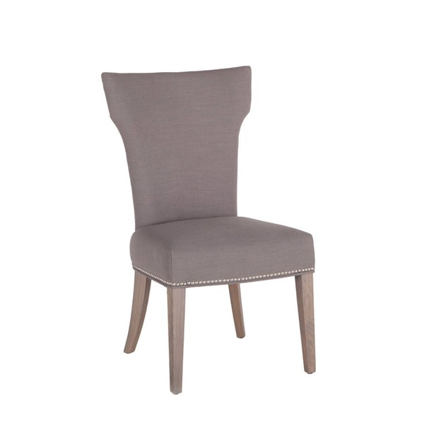 2 World Interiors Quincy Gray Dining Chairs WIF-ZWBECOWGN-2X