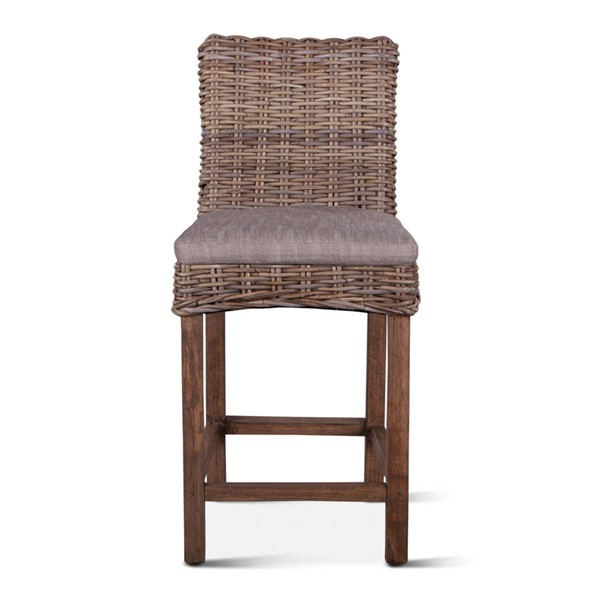 World Interiors Bali Brown Natural Wicker Counter Chair WIF-ZWBLICC18