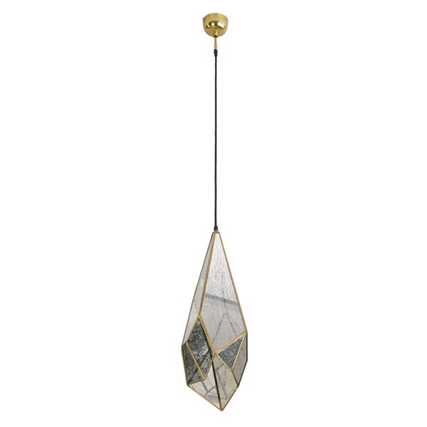 World Interiors Bali Boho Glass Teardrop Shaded Hanging Pendant Light WIF-ZWBLITD-1