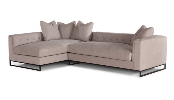 World Interiors Boulevard Antique Taupe 2pc Sectional WIF-ZWBLVDSF31T