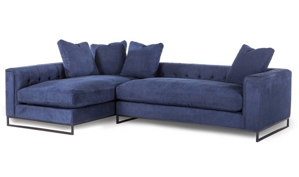 World Interiors Boulevard Navy 2pc Sectional WIF-ZWBLVDSF40N