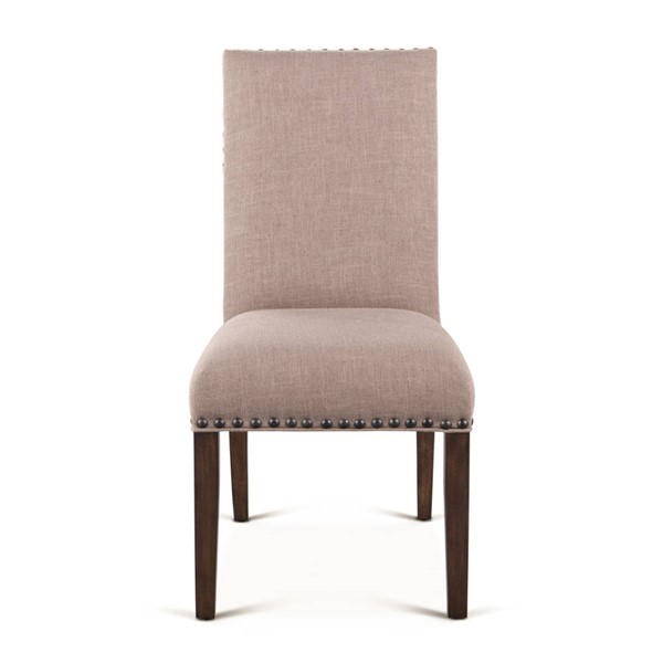 2 World Interiors Bristol Gray Olive Linen Dining Chairs WIF-ZWBRS6LWT-2X