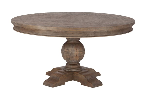 World Interiors Chatham Downs Light Brown 48 Inch Round Dining Table WIF-ZWCADOTR48WT
