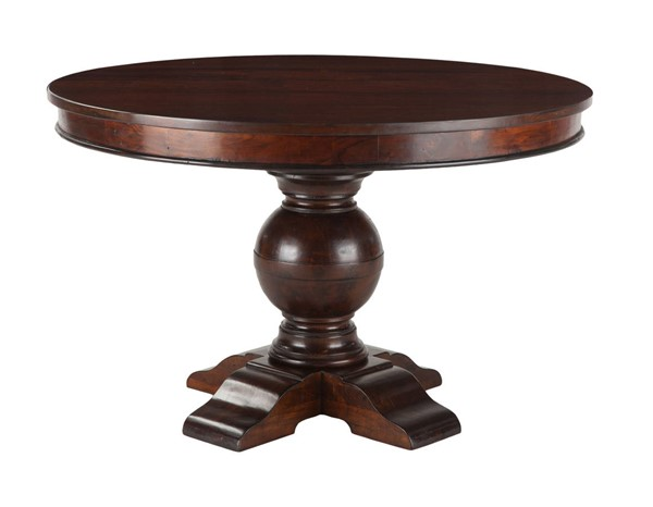 World Interiors Chatham Downs Brown 48 Inch Round Dining Table WIF-ZWCADOTR48