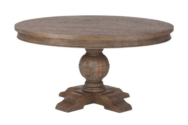 World Interiors Chatham Downs Light Brown 54 Inch Round Dining Table WIF-ZWCADOTR54WT