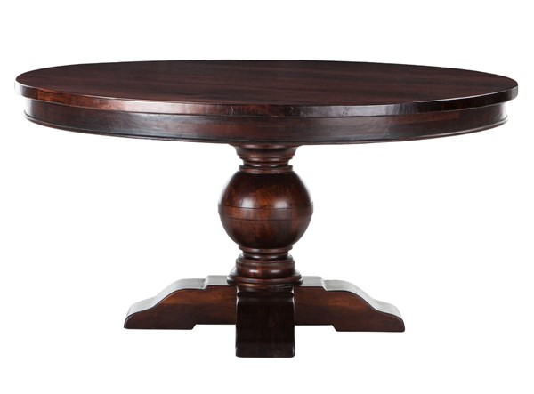 World Interiors Chatham Downs Brown 60 Inch Round Dining Table WIF-ZWCADOTR60
