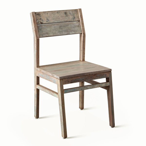 2 World Interiors Cordoba Teal Reclaimed Teak Dining Chairs WIF-ZWCDBDC18-2X