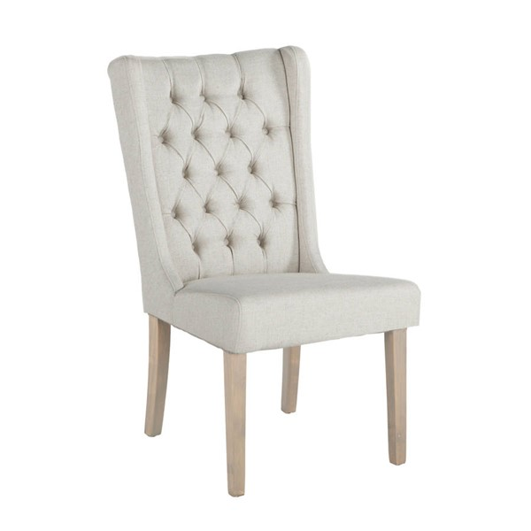 2 World Interiors Chloe Off White Dining Chairs with Napoleon Legs WIF-ZWCL04N-2X