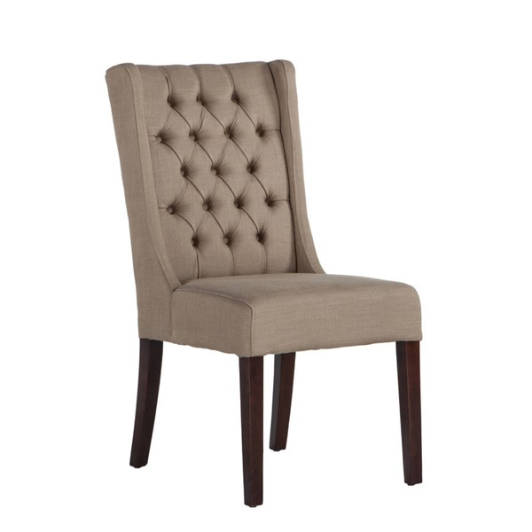 2 World Interiors Chloe Warm Beige Dining Chairs WIF-ZWCL82-6D-2X