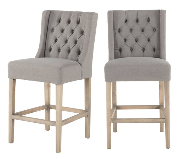 World Interiors Chloe Gray Counter Height Chair WIF-ZWCL83-OWGN