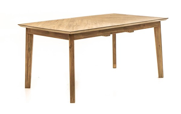 World Interiors Kensington Light Brown Extension Dining Table WIF-ZWCMDT63ESAV