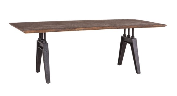 World Interiors Dakota Brown Rectangle Dining Table WIF-ZWCRDT84BSTF