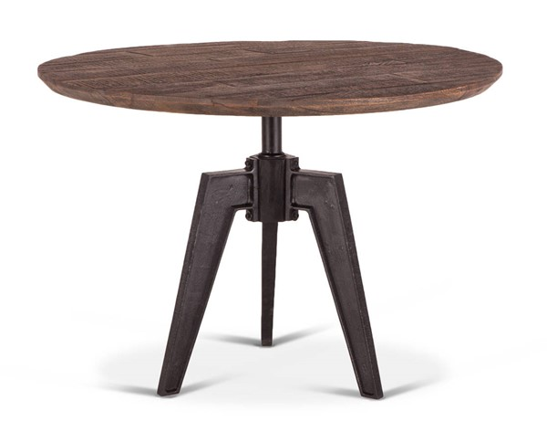 World Interiors Dakota Brown Round Dining Table WIF-ZWCRRD42BSTF
