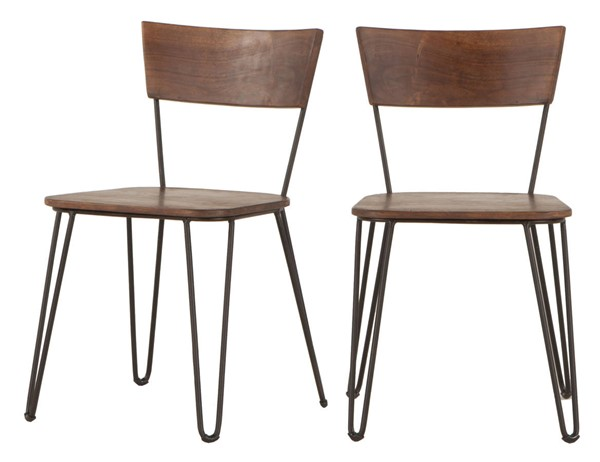2 World Interiors Grandby Brown Dining Chairs WIF-ZWGAN189WN-2X