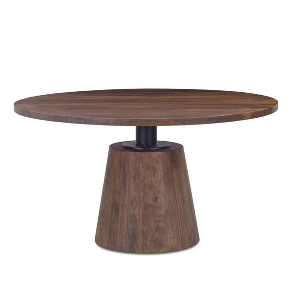 World Interiors Amici Brown 54 Inch Round Dining Table WIF-ZWIMRD54