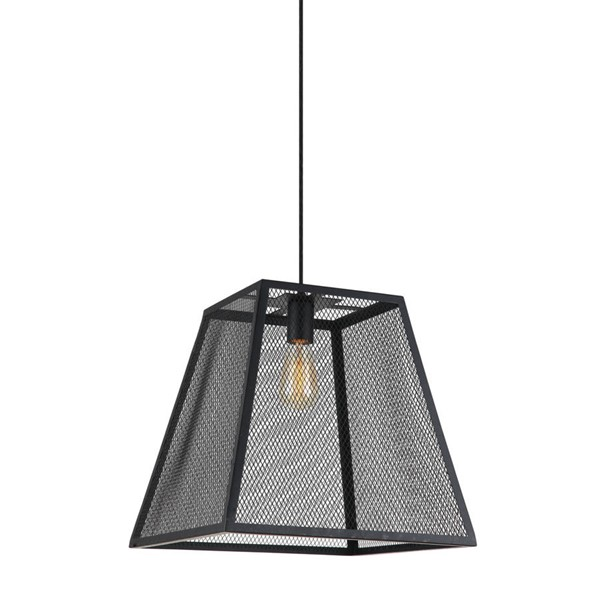 World Interiors Element Industrial Mesh Hanging Lamp WIF-ZWLMCL10MBG