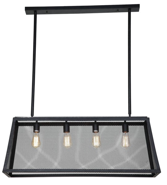 World Interiors Element Industrial Mesh Ceiling Light WIF-ZWLMCL11MBG