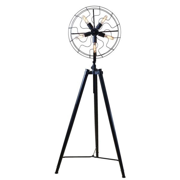 World Interiors Element Industrial Fan Head Floor Lamp WIF-ZWLMFL3AVG