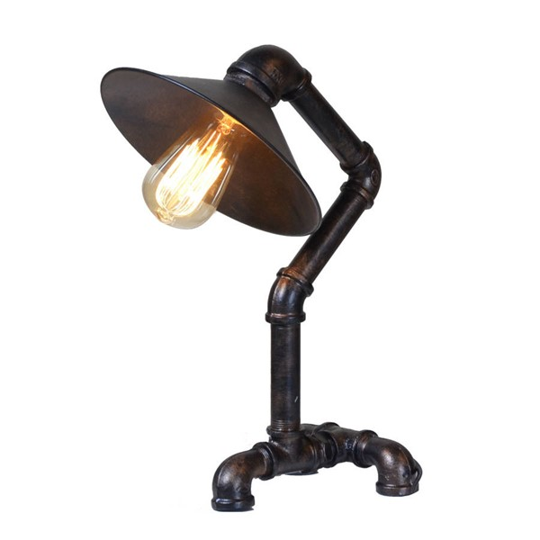 World Interiors Element Industrial Pipe Table Lamp WIF-ZWLMTL11AVG