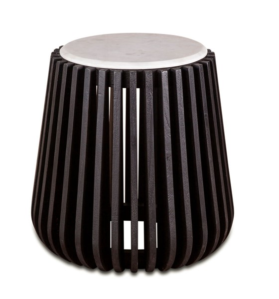 World Interiors Lisbon Brown Wood Side Table WIF-ZWLSNST16