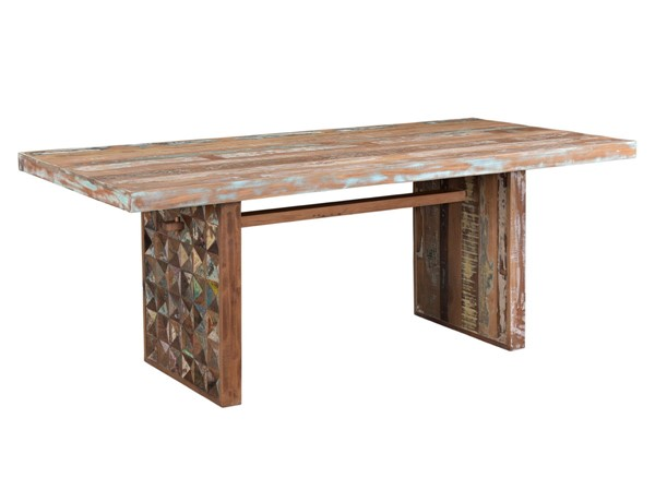 World Interiors Messina Carved Teak Wood Dining Table WIF-ZWMESDT78