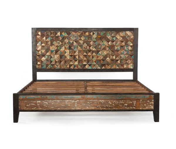 World Interiors Messina Carved Teak Wood Queen Bed WIF-ZWMESPBQ