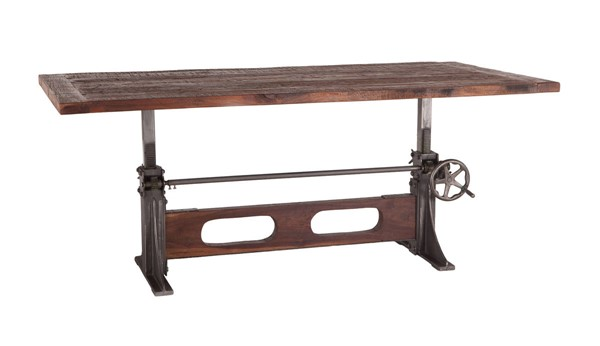 World Interiors Welles Brown Adjustable Dining Table WIF-ZWMFDT84