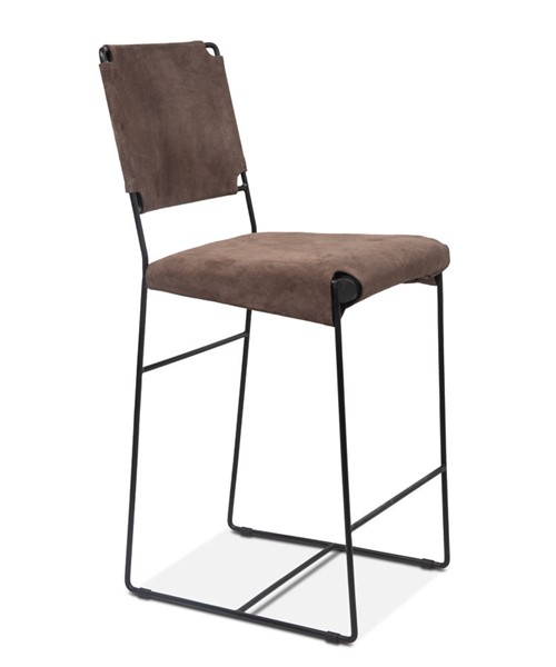 World Interiors Melbourne Dark Gray Counter Height Chair WIF-ZWMLBNCC18S