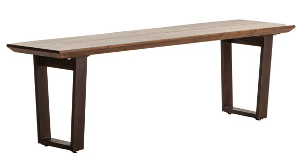 World Interiors Mapai Brown Dining Bench WIF-ZWMP562