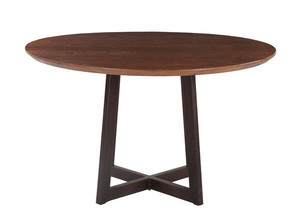 World Interiors Mapai Brown Wood 48 Inch Round Dining Table WIF-ZWMPRD48
